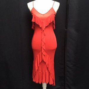 Yves Saint Laurent // Slinky Red Dress